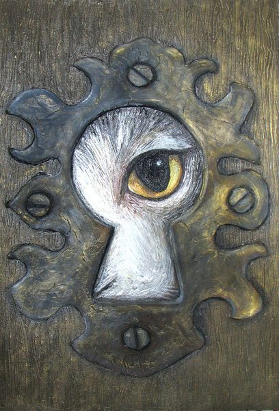 Keyhole Art... could have students draw their dreams, surrealism, peering into what is inside (series)...