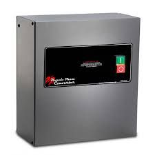 Our reliable and secure three phase converters offer three phase power from single phase electricity to operate three phase machinery at the minimum cost compared to the cost of installing three phase utility in your property.