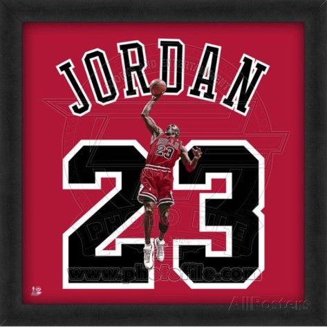 Michael Jordan, Bulls photographic of player's jersey