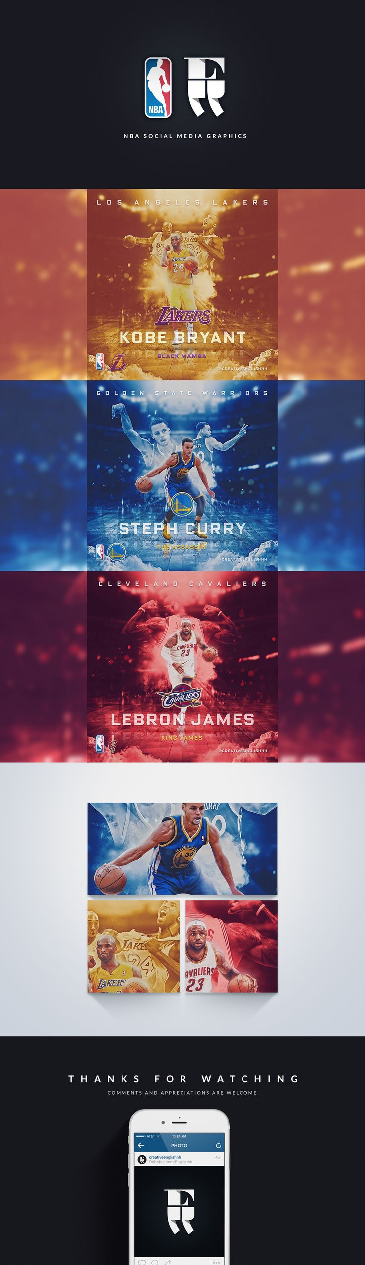 Self-initiated. I wanted to create a series of high quality graphics for the NBA's biggest stars.