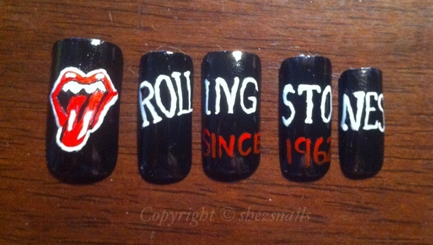 rolling stones by Shezsnails from Nail Art Gallery
