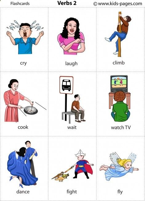 Kids Pages - Flashcards - Verbs 2http://www.kids-pages.com/folders/flashcards/Verbs_2/page1.htm