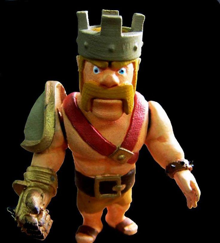 The Barbarian King #clashofclans #3dprint #3dprinted