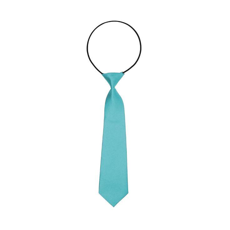 Kinder Krawatte Schlips gebunden dehnbar - türkis in Bekleidung Accessoire  • Krawatten • Kinder