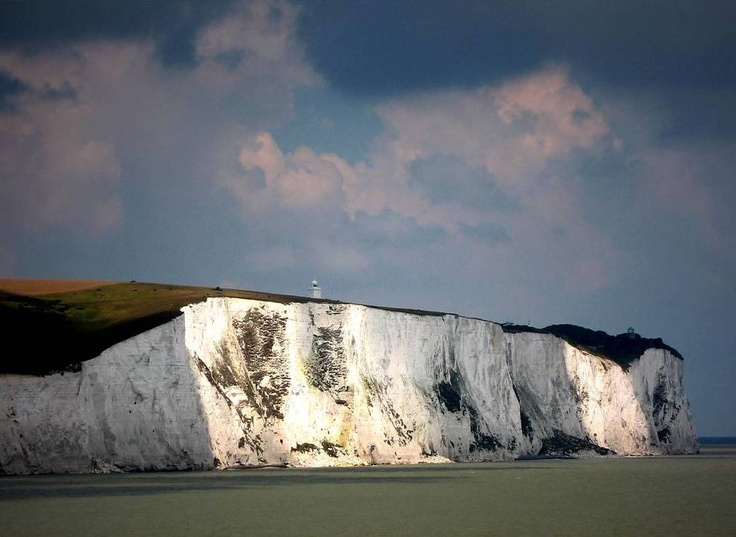 White cliffs of Dover - loved seeing them as the ferry floated away toward France on the English Channel.