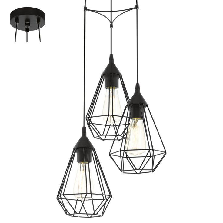 Lampa wisząca zwis Eglo Tarbes 3x60W E27 czarna 94191 objęta jest 2 letnią gwarancją producenta.