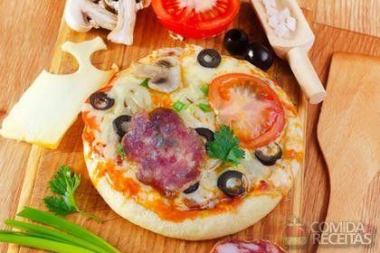 Receita de Pizza brotinho (massa econômica) em receitas de massas, veja essa e…
