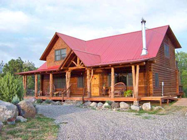 Small Log Home Plans   The Cedaredge.
