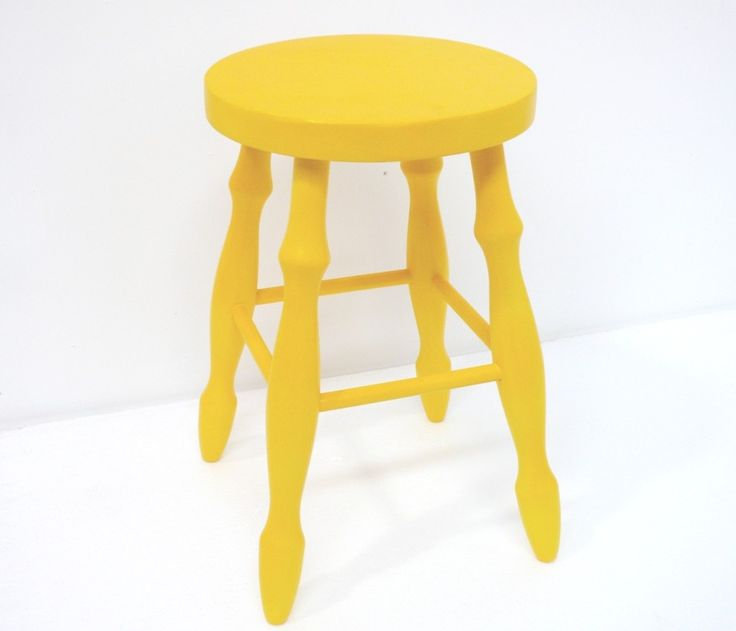 Vintage - Yellow Stool - HOT & NEW
