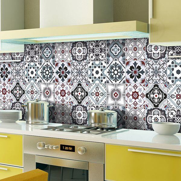 Vinilos Decorativos Kit 48 Adhesivos Azulejos Tradicionales Vinilos Vinilosdecorativos Decoracionh Baldosas De Vinilo Vinilos Para Muebles Cocinas Azulejos