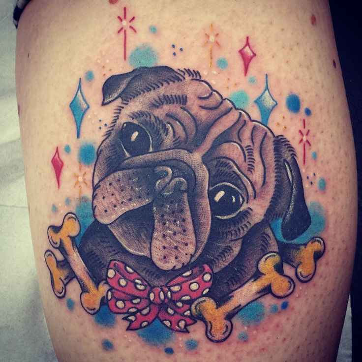 23 Loveable Pug Tattoos