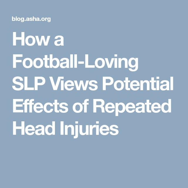 How a Football-Loving SLP Views Potential Effects of Repeated Head Injuries