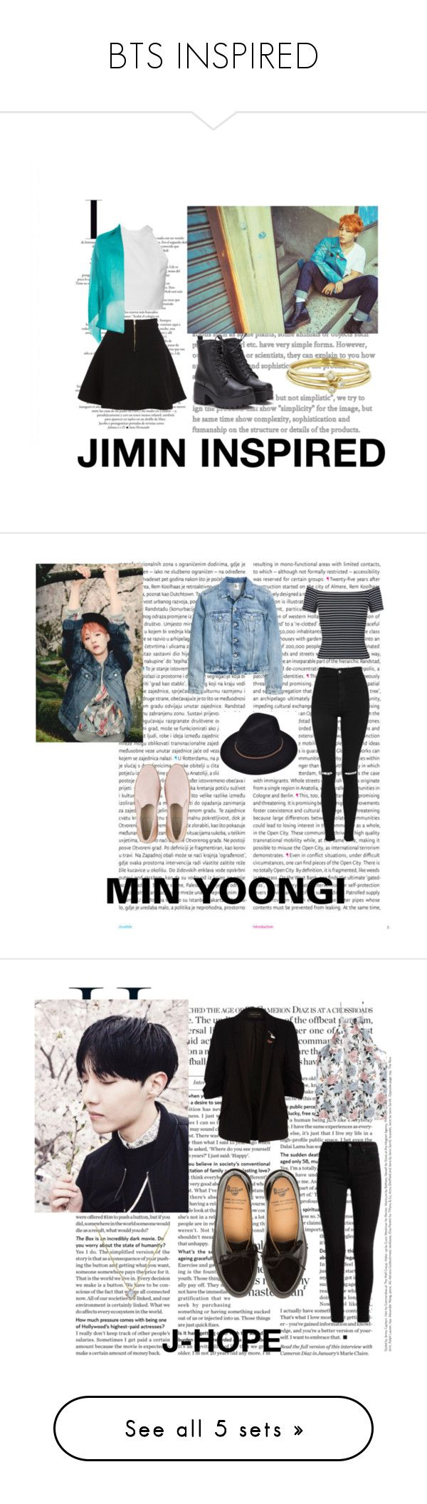 """BTS INSPIRED"" by tamaraaral on Polyvore featuring Parker, Alberta Ferretti, Jennifer Meyer Jewelry, Oris, Miss Selfridge, Topshop, UGG, River Island, Michael Kors y SoGloss"