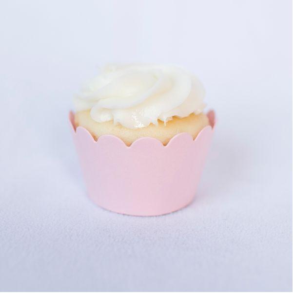 12 Cupcake Wraps - Light Pink