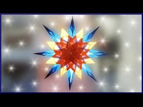 DIY   Waldorf Fensterstern basteln   Weihnachtsstern falten   paper christmas window star - YouTube