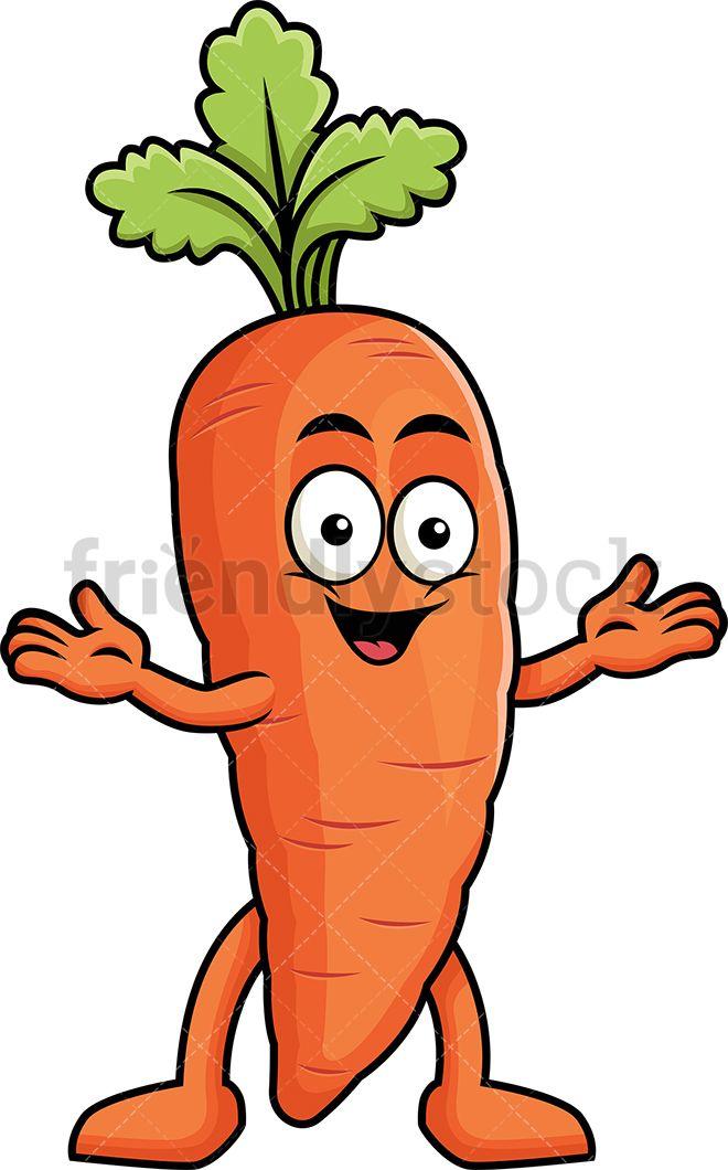 Happy Carrot Mascot With Images Cartoons Vector Cartoon