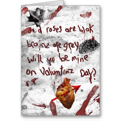 14 best images about Zombie Valentine – Zombie Valentines Cards