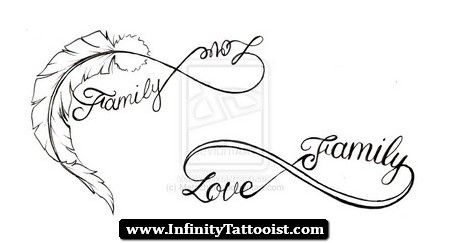 infinity tattoo with feather 03 - http://infinitytattooist.com/infinity-tattoo-with-feather-03/