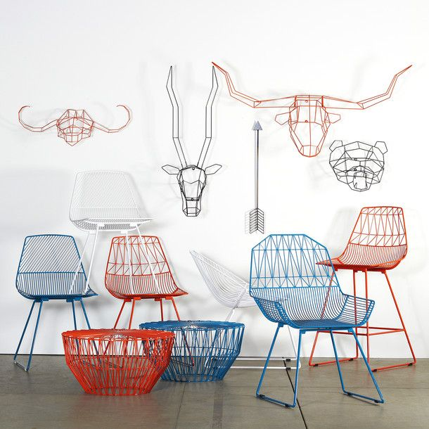 Wire furniture by Bend // great for indoors or out