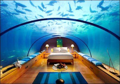 underwater bedroom conrad maldives rangali island hotel