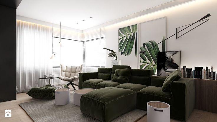 PROJEKT D19_15 / WARSZAWA - Średni salon, styl minimalistyczny - zdjęcie od A2 STUDIO pracownia architektury