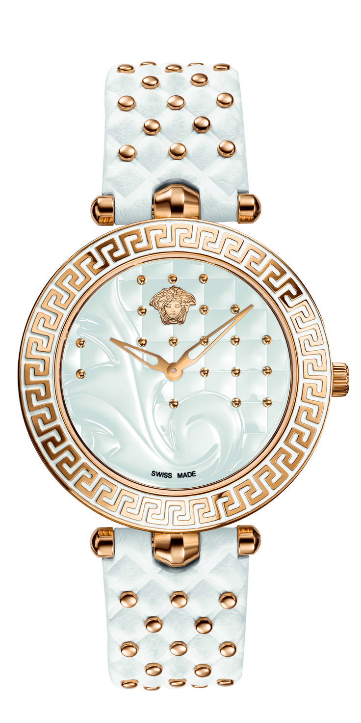 The Versace Vanitas watch, with its timeless, luxurious and highly glamorous style.