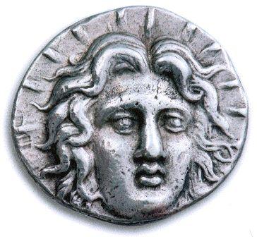 Ρόδος, Καρία. Αργυρό τετράδραχμο, 230-205 π.Χ. Διάμετρος 27 χιλιοστά. Νομισματική Συλλογή Alpha Bank