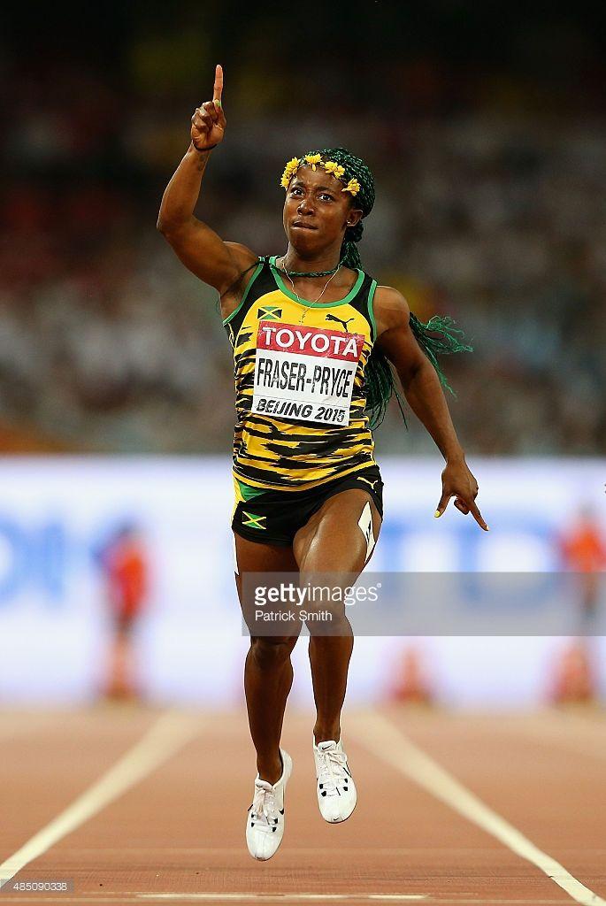 Shelly-Ann Fraser-Pryce, 100m gold medalist, Beijing 2015