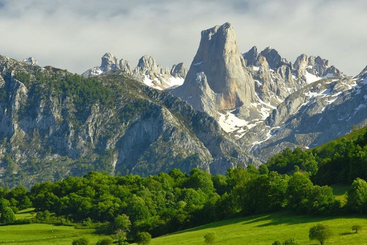 SPAIN / Cities, towns, landscapes - The Picos de Europa is a National Park in northern Spain. It is within the boundaries of three autonomous communities, Asturias, Cantabria and Castile and León. There are many protected animal species, like the Capercaillie, the Lammergeier, the Cantabrian brown bear and the Iberian Wolf. The most representative animal of the Picos de Europa is the Pyrenean chamois. On 2003, UNESCO approved Biosphere Reserve status for the Picos de Europa.