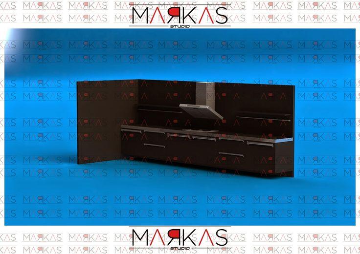 markas studio: Black Kitchen Cabinet (done)(simple)(3D)
