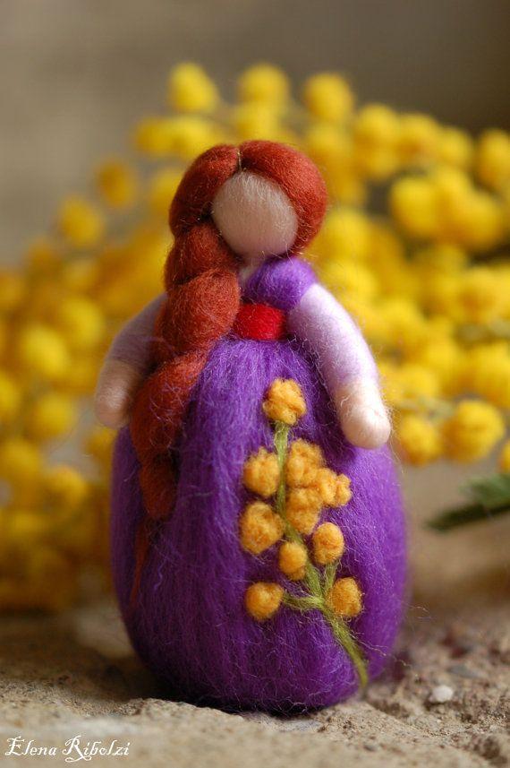 Mimosa & Anemone, in lana fiaba ispirazione Waldorf