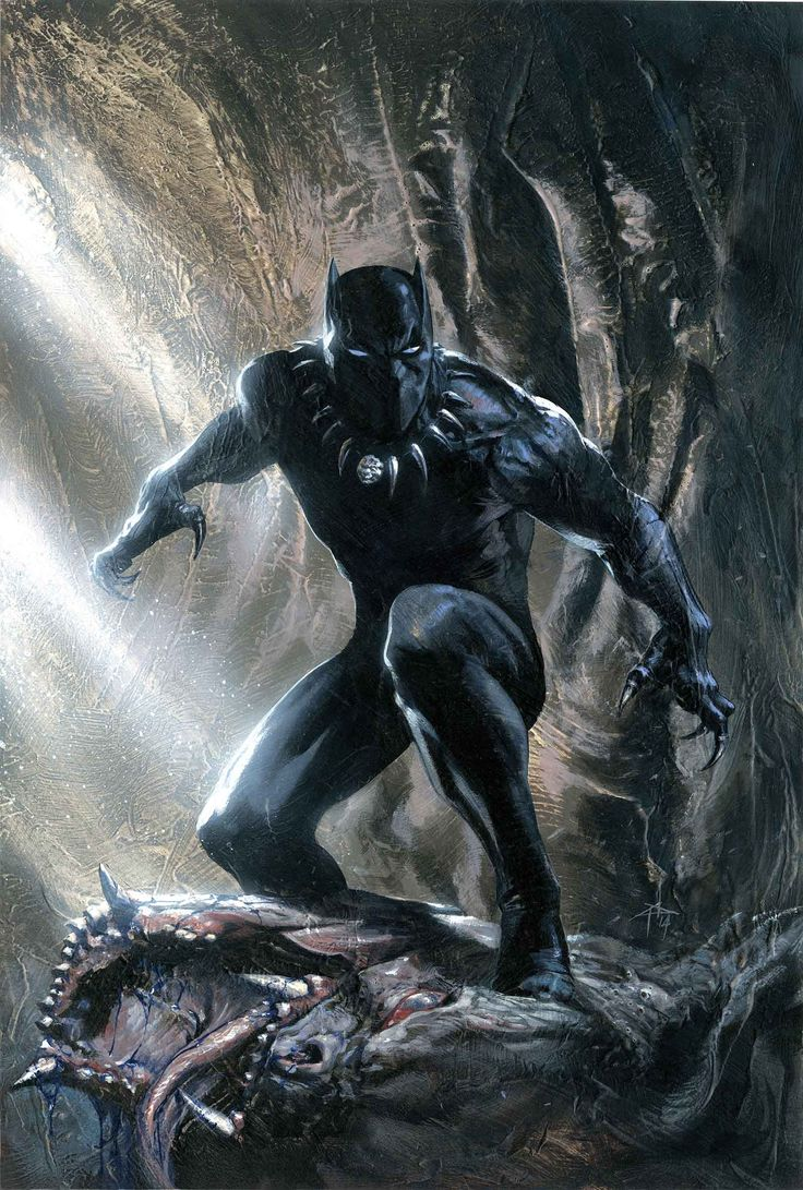 Black Panther is the first biological son of T'Chaka, King of the African Nation of Wakanda and husband of X-Men's own Storm.