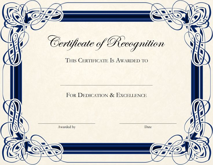 Best 25+ Certificate of recognition template ideas on Pinterest - free templates for certificates of completion