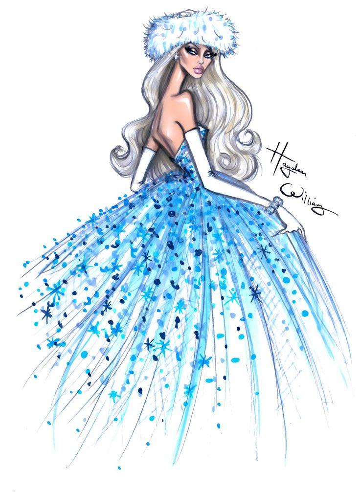 Hayden Williams Fashion Illustrations: 'Winter Dream' by Hayden Williams