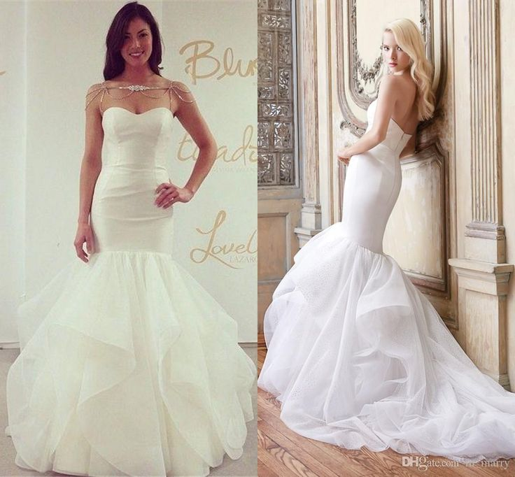 2016 Alvina Valenta Mermaid Cour Train Wedding Dresses Elegant Tiered Organza Skirt Runway Sexy Back Wedding Bridal Gowns Vestido De Novia 2016 Wedding Dresses Plus Size Wedding Dresses Arabic Wedding Dresses Online with $228.58/Piece on In_marry's Store | DHgate.com