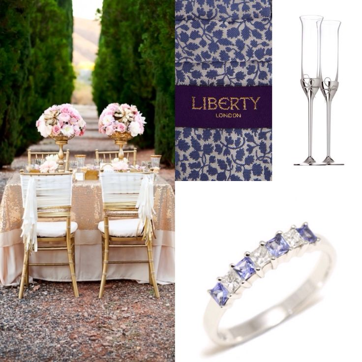 Feminine charm, delicate palette and timeless elegant.  £390.00  http://www.eternityjewellers.com/products/tanzanite-diamond-ring