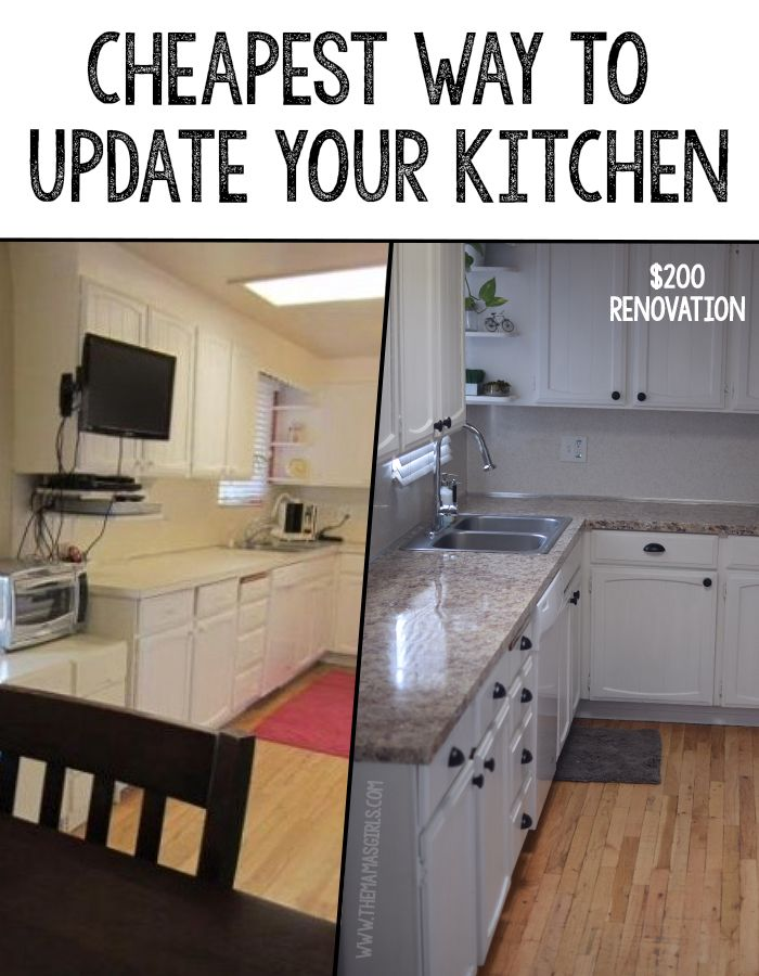 Ad Disclosure The Cheapest Way To Update A Kitchen We just bought an older home and found the cheapest way to update a kitchen. I want to share this with you all because I am sure that I'm not the only project-aholic on a budget.  While we were students renting apartments, I  dreamed about owning …