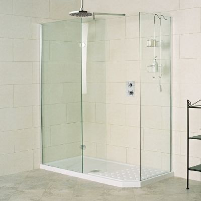 --- A luxury walk-in shower enclosure of larger proportions and one that perfectly replaces a bath. --- Available from Roman Ltd - British Made Luxury Shower Enclosures and Bath Screens. Images Copyright www.roman-showers.com