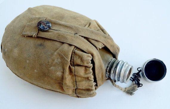 Vintage military flask water   Soviet Army от ClockArtVintage