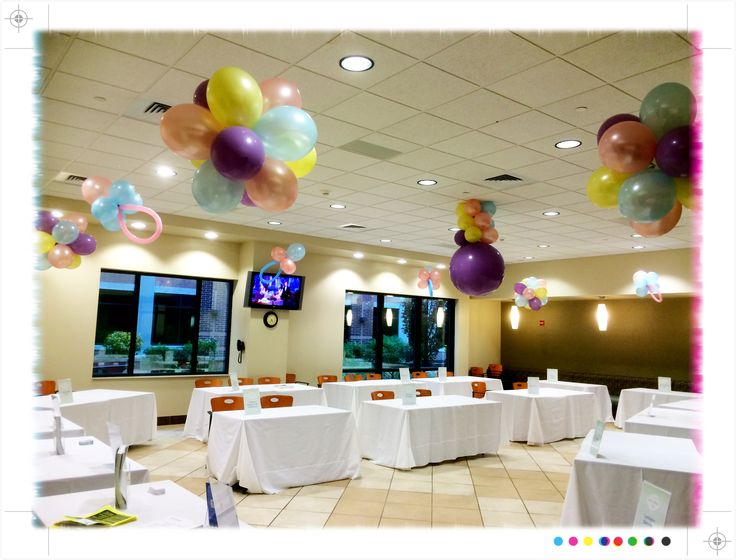 Adorable, professional balloon display complete with pacifier balloons for the Baby Fair at Atrium Medical Center by Balloon Elevations, LLC in OH & WV #babyfair #balloons #specialevents #pacifierballoons #babyparty #babyshower #itsagirl #itsaboy #showerballoons