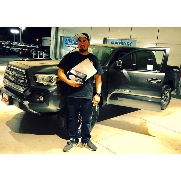Sales Associate Daniel Plasencia helped Mr. Moreno with his purchase of a Frank Toyota brand new Tacoma. This is the second truck that Mr. Moreno has purchased from the Frank Motors Group. Thank you for bringing your business to The Mile of Cars!