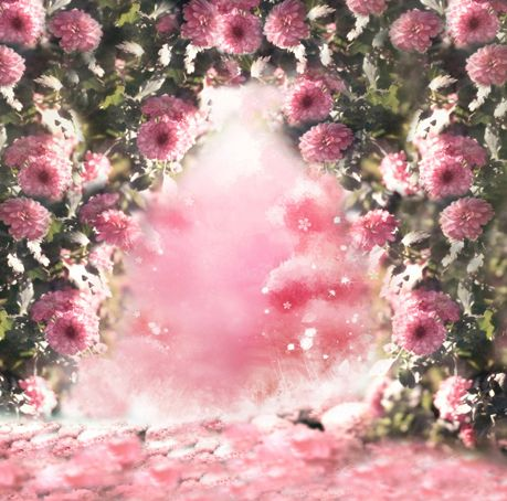 Fantasy Pink Flowers Printed Backgrounds for Photo Studio Props 5X7ft Thin Vinyl Cloth Wedding Children Photo Backdrops