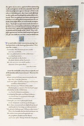 St. John's Bible, a special treatment page.  The whole project was completed under the direction of Donald Jackson.