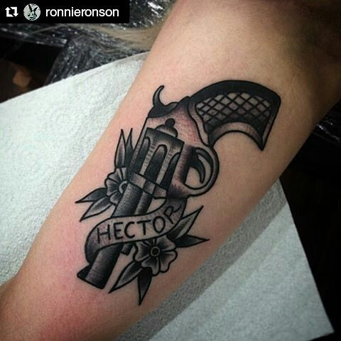 """My fave artist right now... Ronnie Ronson """"We are the Pretty Petty Thieves and you're standing on our streets."""" #Hector #Morrissey #morrisseytattoo #tattoo #thefirstofthegangtodie  #Repost @ronnieronson with @repostapp"""