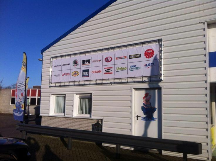 Spanframe + banner ASD Automaterialen