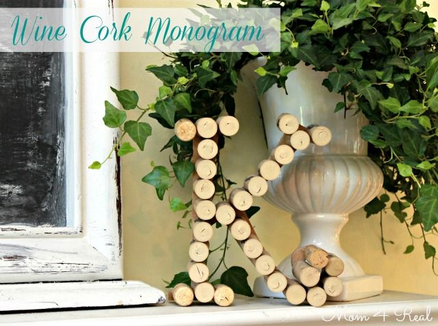 Monogram Made With Wine Corks - Mom 4 Real