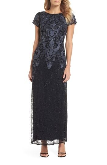 3211743b471417 Pisarro Nights Embroidered Mesh Gown (Regular & Plus Size) in 2019 ...