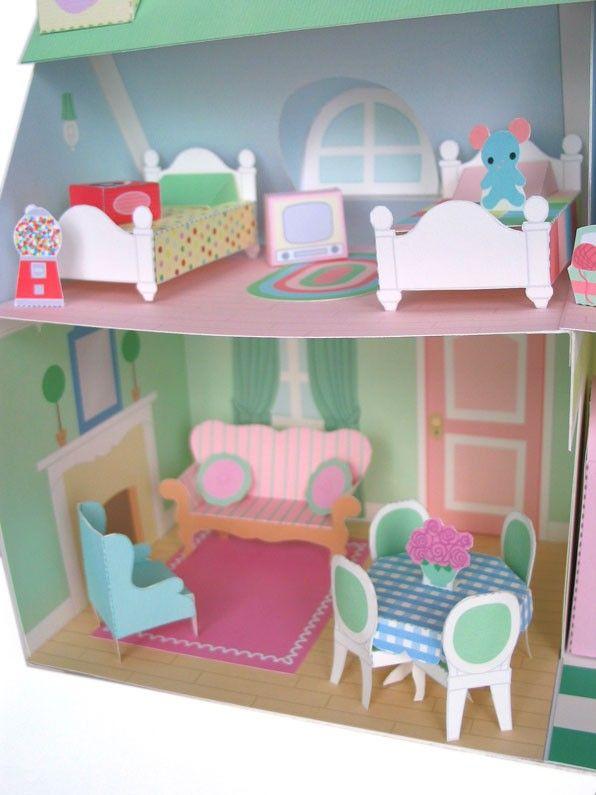Dollhouse Furniture Printable Paper Craft PDF. $4.00, via Etsy.