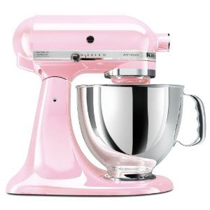 I LOVE MINE!!!!  Kitchenaid Mixer in Breast Cancer Awareness Pink. What could make someone want to buy a Kitchenaid Mixer more than they already do? Make it in pink to support breast cancer awareness. Genius.