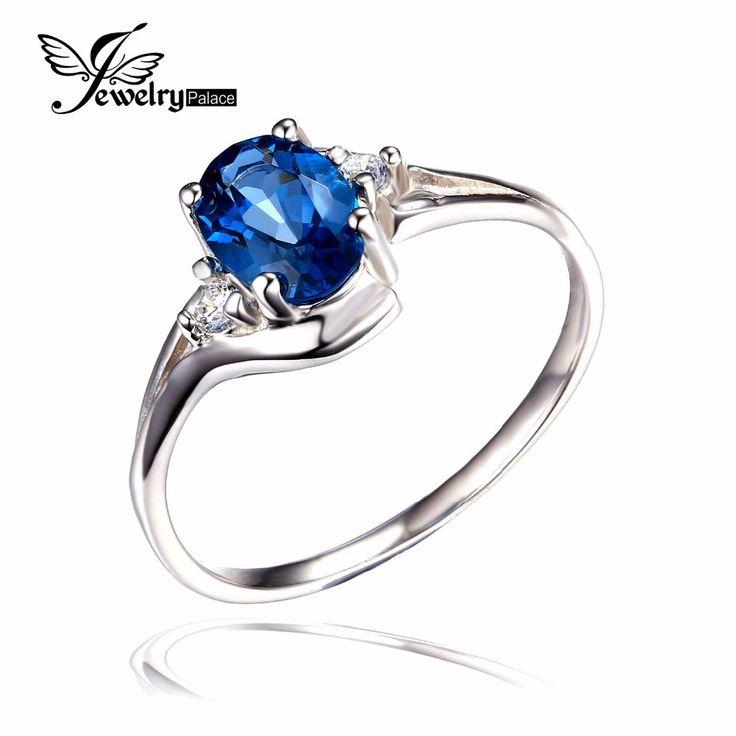 Natuurlijke Londen Blue Topaz Engagement Ring Echt 925 Sterling Zilveren Nieuwe Hot Top Kwaliteit Vrouwen Mode Groothandel Huwelijkscadeau